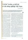 """""""Cởi bỏ"""" tư duy cũ để tái cơ cấu nông nghiệp Việt Nam"""