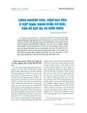 Công nghiệp hóa, hiện đại hóa ở Việt Nam: Quan điểm cơ bản, vấn đề đặt ra và kiến nghị