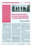 Nâng cao hiệu quả đầu tư trực tiếp ra nước ngoài của các doanh nghiệp Việt Nam