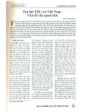 Thu hút FDI vào Việt Nam - Vấn đề cần quan tâm