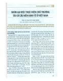 Nhìn lại việc thực hiện chủ trương tái cơ cấu nền kinh tế ở Việt Nam