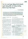 Vai trò của hoạt động kinh doanh ngân hàng đối với tăng trưởng kinh tế tại Việt Nam