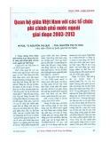 Quan hệ giữa Việt Nam với các tổ chức phi chính phủ ở nước ngoài giai đoạn 2003 - 2013