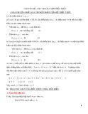 Chuyên đề: Cực trị của một biểu thức