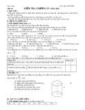 Giáo án Hình học 9 - Tiết 66: Kiểm tra chương V