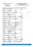 Đề thi minh họa kỳ thi Trung học phổ thông Quốc gia Quốc năm 2017 môn Tiếng Trung