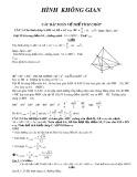 Các bài toán về Hình học không gian