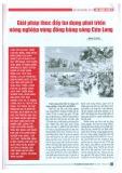 Giải pháp thúc đẩy tín dụng phát triển nông nghiệp vùng đồng bằng Sông Cửu Long