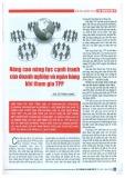 Nâng cao năng lực cạnh tranh của doanh nghiệp và ngân hàng khi tham gia TPP