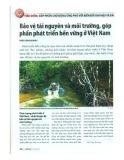Bảo vệ tài nguyên và môi trường, góp phần phát triển bền vững ở Việt Nam