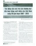 Tác động của các rào cản thương mại đến hoạt động xuất khẩu của Việt Nam sang EU giai đoạn 2007 - 2013