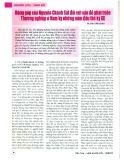 Đóng góp của Nguyễn Chánh Sắt đối với vấn đề phát triển Thương nghiệp ở Nam kỳ những năm đầu thế kỷ XX