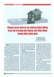 Chính sách tiền tệ và những biến động trên thị trường bất động sản Việt Nam trong thời gian qua