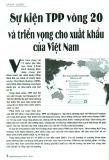 Sự kiện TPP vòng 20 và triển vọng cho xuất khẩu Việt Nam