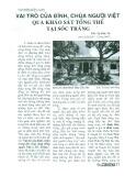Vai trò của đình, chùa người Việt qua khảo sát tổng thể tại Sóc Trăng