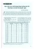 Hạn chế và chất lượng tăng trưởng kinh tế Việt Nam và một số khuyến nghị