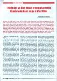 Thuận lợi và khó khăn trong phát triển thanh toán biên mậu ở Việt Nam