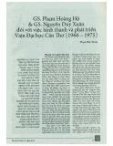 GS. Phạm Hoàng Hộ & GS. Nguyễn Duy Xuân đối với việc hình thành và phát triển Viện Đại học Cần Thơ (1966 - 1975)