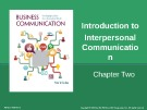 Lecture Business communication: Developing leaders for a networked world: Chapter 2 - Peter W. Cardon