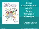 Lecture Business communication: Developing leaders for a networked world: Chapter 11 - Peter W. Cardon