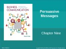 Lecture Business communication: Developing leaders for a networked world: Chapter 9 - Peter W. Cardon