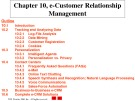 Lecture E-commerce and e-business for managers - Chapter 10: E-customer relationship management