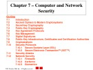 Lecture E-commerce and e-business for managers - Chapter 7: Computer and network security