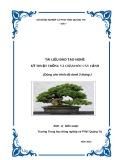 Tài liệu đào tạo nghề Kỹ thuật trồng và chăm sóc cây cảnh - Trường TH NN&PTNT Quảng Trị