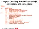 Lecture E-commerce and e-business for managers - Chapter 3: Building an e-business: Design, development and management