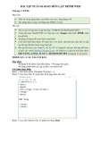Bài tập tuần 1, 2, 3 môn Lập trình web