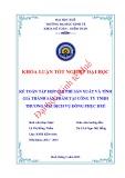 Khóa luận tốt nghiệp: Kế toán tập hợp chi phí sản xuất và tính giá thành sản phẩm tại công ty TNHH Thương mại Dịch vụ Đồng phục Huế