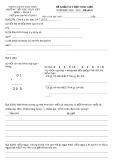 Đề khảo sát học sinh giỏi môn Toán lớp 3 năm 2009-2010 - Phòng GD&ĐT Thái Thụy (Đề số 16)
