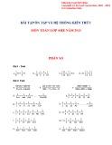 Bài tập ôn tập và hệ thống kiến thức môn Toán lớp 4 hè năm 2015