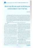 Đầu tư trực tiếp nước ngoài vào bất động sản và bất ổn kinh tế vĩ mô ở Việt Nam