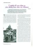 Ý nghĩa lễ Sen Đôn Ta của đồng bào dân tộc Khmer