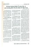 Khủng hoảng kinh tế toàn cầu và ảnh hưởng đối với nền kinh tế Việt Nam