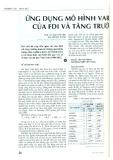 Ứng dụng của mô hình VAR của FDI và tăng trưởng