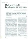 Phát triển kinh tế hộ nông dân tại Việt Nam