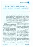 Dân số và nhóm dân số hoạt động kinh tế: Những tác động tới tăng trưởng kinh tế Việt Nam