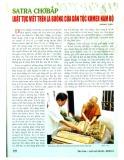 Satra Chơbắp - Luật tục viết trên lá buông của dân tộc Khmer Nam bộ