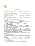 Trắc nghiệm Hóa học 8