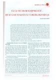 Tái cấu trúc doanh nghiệp nhà nước - Một số vấn đề về nguyên tắc và phương pháp tiếp cận