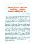 Nâng cao năng lực cạnh tranh của nền kinh tế Việt Nam trong điều kiện gia nhập WTO