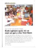 Xử lý nợ xấu ngân hàng: Kinh nghiệm quốc tế và một số gợi ý cho Việt Nam