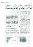 Đóng góp của chuyển dịch lao động vào tăng trưởng kinh tế Việt Nam giai đoạn 1995 - 2011