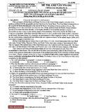 Đề thi cuối học kì môn Anh Văn NNA104 - Trường Đại học Quốc gia TP. HCM (Mã đề 995)