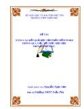 Nghiên cứu khoa học sư phạm ứng dụng: Nâng cao kết quả học tập phần mềm Word thông qua việc tổ chức dạy học trên phòng máy - GV. Nguyễn Ngọc Sơn