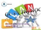 Bài thuyết trình nhóm Quản trị học: Chương IV: Chức năng hoạch định
