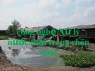 Thuyết trình: Công nghệ xử lý nước thải trong chăn nuôi