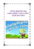 Tổng hợp đề thi Violympic Toán lớp 1 năm 2015-2016